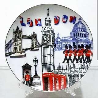 Pajangan Piring Keramik Mancanegara Inggris London G