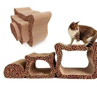 🚚 Value 3 in 1 set cute cat scratching post leopard & marble avail