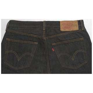 【跨年前賣場任2件減200】LEVIS 501 黑色 直筒褲 32腰 (9成新)