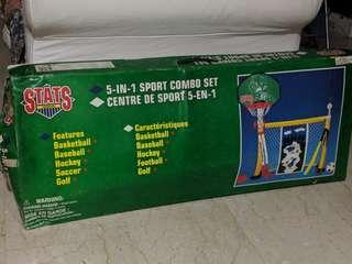 Toys 'R' Us  5 in 1 sports combo set