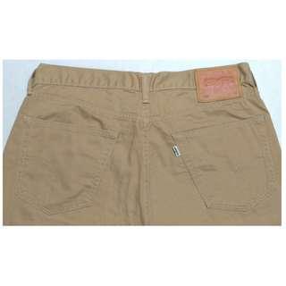 【跨年前賣場任2件減200】LEVIS 505 卡其色 休閒直筒褲 32腰 (9成新)