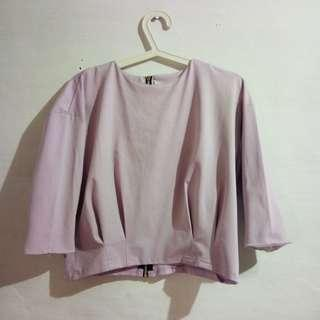 Blouse crop purple