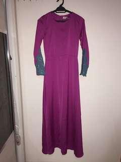 Minaz Jubah Dress Purple