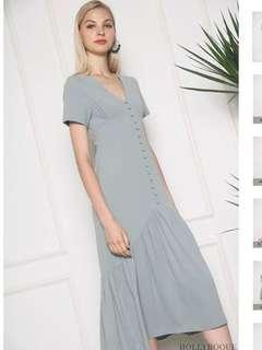 Hollyhoque macy button down dress (Jade)