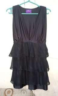 Black nursing long blouse/mini dress