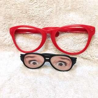 2-Pc Funny Novelty Costume EyeGlasses