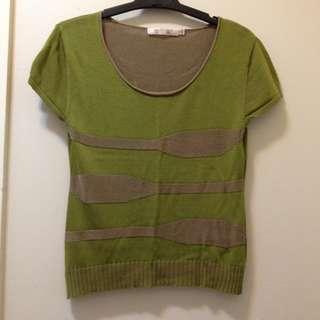 Green shirt top