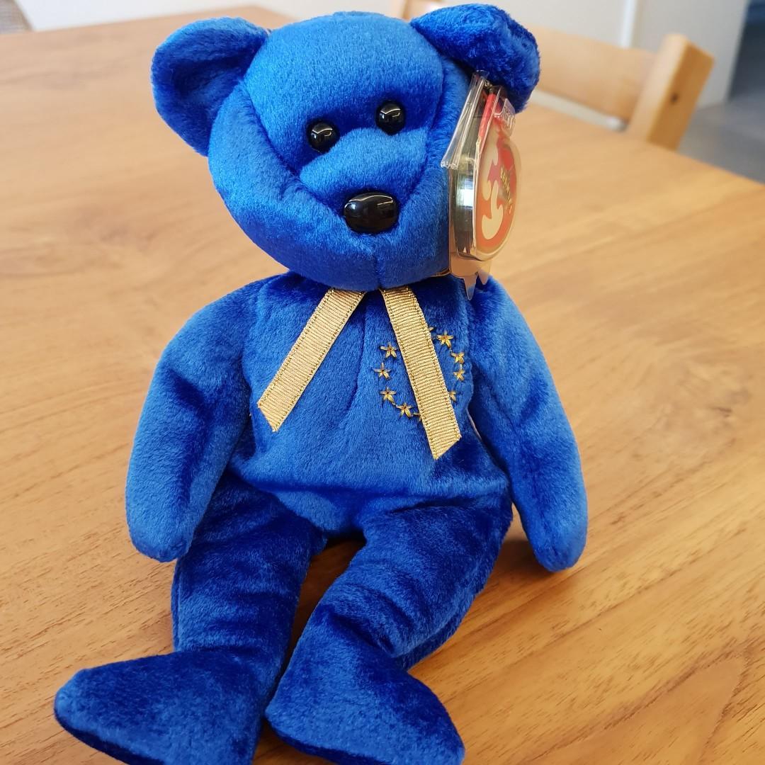602798ea906 1 Avail. GENUINE TY BEANIE BABY. Unity The Bear - RARE. Brand new ...