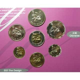 (紀念幣) 1997香港回歸 紀念新鑄錢幣套裝 Brilliant Uncirculated Coin Set (1套 全新未開封)