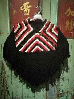 復古編織斗篷