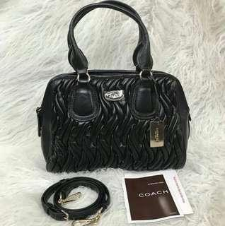 AUTHENTIC COACH GATHERED LEATHER SMALL SATCHEL - FREE SHIPPING