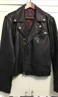 Gap biker Leather Jacket 皮褸 皮衣