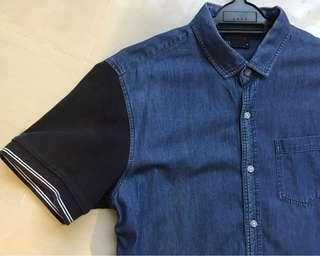 Denim short sleeve