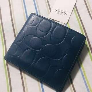 Authentic COACH Mens wallet with coin slot