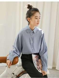 🚚 泡泡袖設計法式復古襯衫兩色