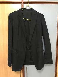 Uniqlo linen black blazer