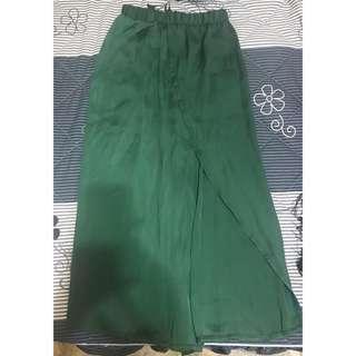 🚚 綠雪紡長裙