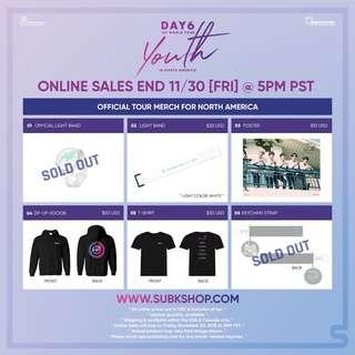 [LAST MIN PO] DAY6 NA MERCH