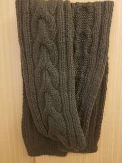🚚 厚針織圍巾-鐵灰