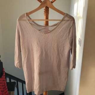 🚚 灰色前交叉針織上衣 #十一月女裝半價