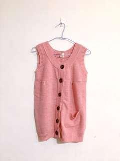 粉色針織背心