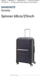Samsonite Octolite Spinner 68cm/25inch Brand New for sale