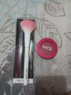 Vice Cosmetics Blush in BYUCON - Wet n Wild Blush Brush Bundle