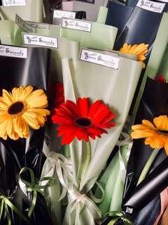 🌼🌸 Gerbera bouquet // Single stalk bouquet