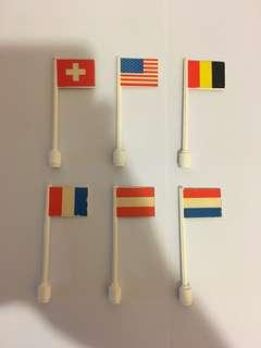 60年代LEGO罕有國旗6支。這類樂高全球也難找👍,高階樂高收藏者之選!絕版 古董 懷舊LEGO