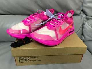 Off White Zoom Fly pink us10