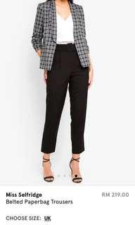 BNWT Miss Selfridge Belted Paperbag Trousers
