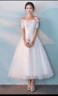 白婚纱。 Wedding Dress