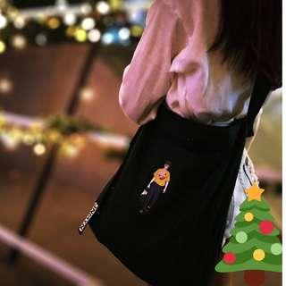 EXO Suho Puppyboy Tote Bag in Black