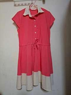 Ladies Pink Knee Length Dress