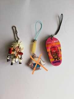 Anime keychains and badges