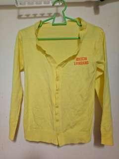 Ladies Yellow Long Sleeve Cardigan