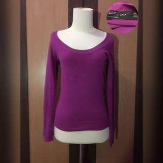 purple sweatshirt knit