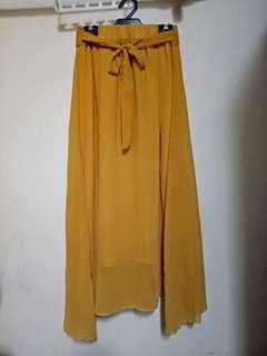 Ladies Brown Chiffon Long Skirt