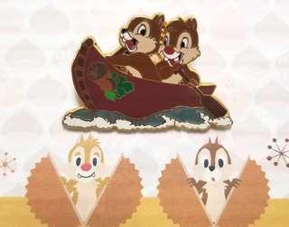 ☆罕有。包郵☆ Disney Shopping pin LE250 chip n dale 大鼻 鋼牙 奇奇 蒂蒂 pin 徽章