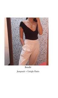 Bundle Low Back Top + Uniqlo Drape Pants