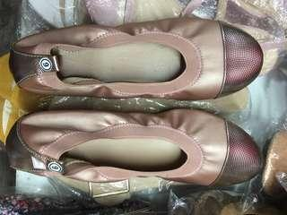 Rose Gold Doll Shoes