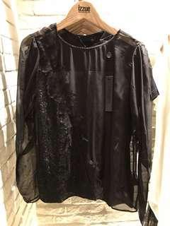 Izzue女裝透明上衣blouse