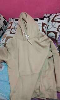 Hoodie polos H&M original warna cream chaki