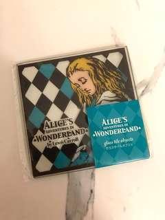 全新日本愛麗絲夢遊仙境 Alice in wonderland 玻璃杯墊