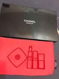 Chanel beauty bag red