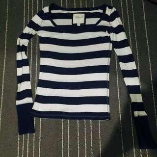 Abercrombie stretchable stripes long sleeve