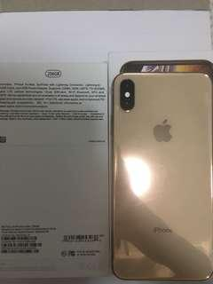 Iphone Xs Max 256GB gold full set New, not used 金色未使用新手機