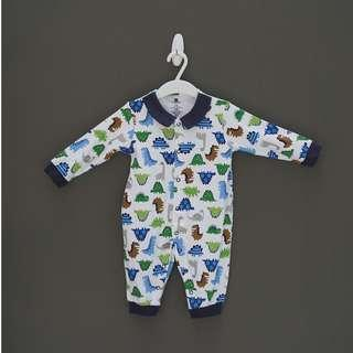 Baby Dino romper with collar
