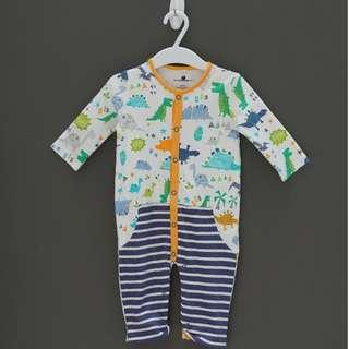 Baby romper with Dino and Stripe