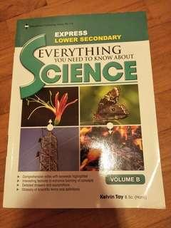 Lower Secondary Express Science textbook